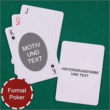 Spielkarten Ovales Protrait Vorderseite Text Rückseite