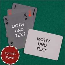 Bridgekarten im Pokerformat Rückseite Querformat