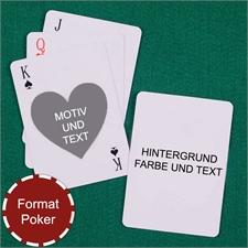 Herz Beidseitig Personalisierbare Spielkarten