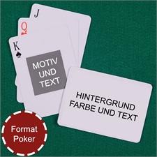 Portraitfoto Spielkarten Rückseite Querformat