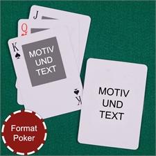 Portraitfoto Oben Beidseitig Personalisierbare Spielkarten