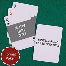 Portrait im Querformat Beidseitig Personalisierbare Spielkarten