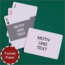 Portraitfoto Querformat Vorne Spielkarten Rückseite Querformat Beidseitig Gestaltbar