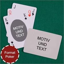 Ovales Motiv Bridgekarten im Pokerformat Rückseite Querformat