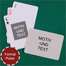 Portraitfoto Mitte Rückseite Querformat Kartenspiel