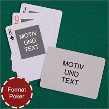 Portraitfoto oben Rückseite Querformat Kartenspiel