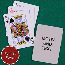 Standard Personalisierbare Spielkarten mit Foto