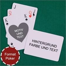 Herz Bridgekarten Pokergröße Rückseite Querformat Spielkarten
