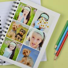 Notizbuch, Sechs Fotos, Weiß