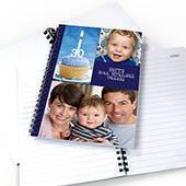 Notizbuch, Drei Fotos, Einzeltitel, Blau