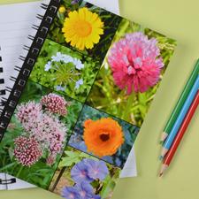 Notizbuch, Sechs Fotos, Schwarz