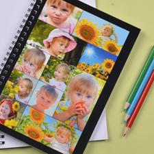 Notizbuch, Elf Fotos, Schwarz