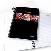 Notizbuch, Drei Fotos, Ein Titel, Schwarz