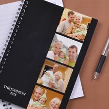 Notizbuch, Vier Fotos rechts, Schwarz