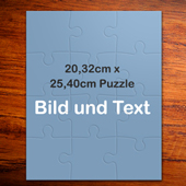 25,4 x 20,3 cm Photo-Puzzle, Hochformat