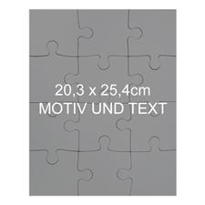 25,4 x 20,3 cm Magnetisch-Photo-Puzzle, Hochformat