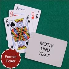 Spielkarten Bridge im Pokerformat Rückseite Querformat