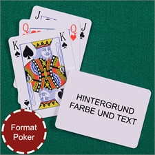 Skatkarten personalisiert, Querformat