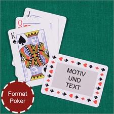 Zeitlose Standard Spielkarten, Querformat