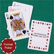 Zeitlose Standard Spielkarten Personalisiert, Hochformat