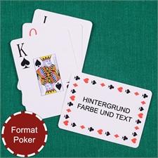 Zeitlose Standard Spielkarten, personalisierte Rückseite im Querformat