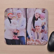 Zwei Fotos Mauspad Schwarz Hochformat Personalisiert