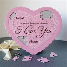 Personalisiertes Pink Herzpuzzle