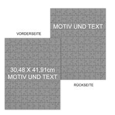 Doppelseitiges Puzzle, 30,48 cm x 41,91 cm, Hochformat