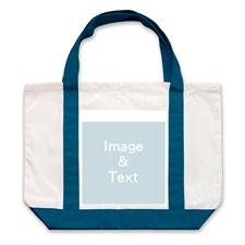 Leinwandtragetasche Ein Foto Marineblau