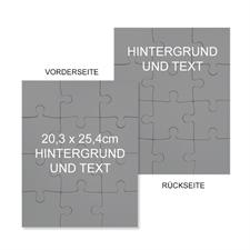 Beidseitiges Puzzle mit Hintergrundfarbe, Foto, Text, 20,32 cm x 25,40 cm