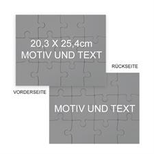 beidseitiges Fotopuzzle mit Motiv 25,40x20,32 cm