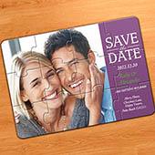 Unser großer Tag, Einladung Fotopuzzle, Purple Klassisch