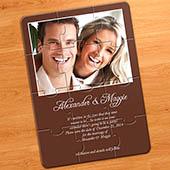 Hochzeitsankündigung Puzzle, Schokolade