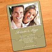 Hochzeitseinladungspuzzle, Gold
