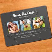 Einladung, Fotopuzzle 3 Fotos, Grau