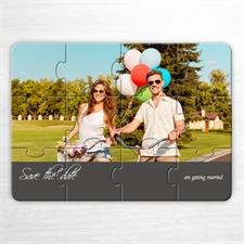 Einladung Einmalige Liebe, Fotopuzzle, Grau