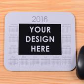 Klassiches Fotokalender Mauspad Weiß 2016