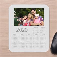 Erinnerungen Fotokalender Mauspad Weiß 2016
