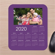 Erinnerungen Fotokalender Mauspad Violett