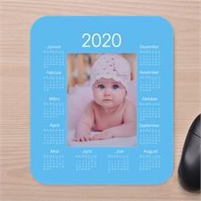 Fotokalender Mauspad Hellblau