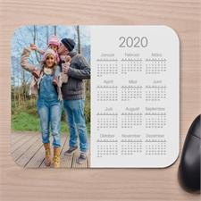 Modernes Foto Kalender Mauspad Weiß 2016