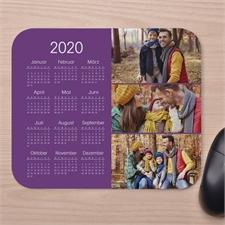 Drei Fotos Kalender Kollage Mauspad Lavendal