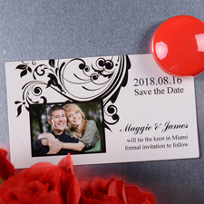 Bekanntmachung Save the Date Fotomagnet 5,08 x 8,89 cm