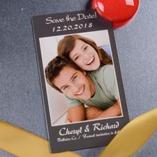 Modern Save the Date Magnet Grau 5,08 x 8,89 cm