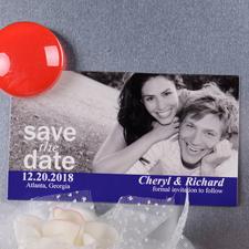 Schnappschuss Save the Date Fotomagnet 5,08 x 8,89 cm