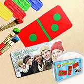 Personalisiertes Domino Spiel Weihnachten Foto im Querformat