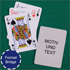 Bridge Kartenspiel Hochformat