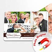 Liebe Fotocollage Magnet  10,16 x 15,24 cm
