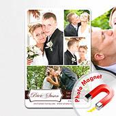 Eins und Eins Hochzeit Collage Save the Date Magnet 10,16 x 15,24 cm