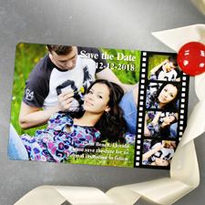 Filmstreifen Spaß Save the Date Magnet 10,16 x 15,24 cm